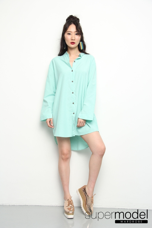 Giselle Oversized Top (Mint)