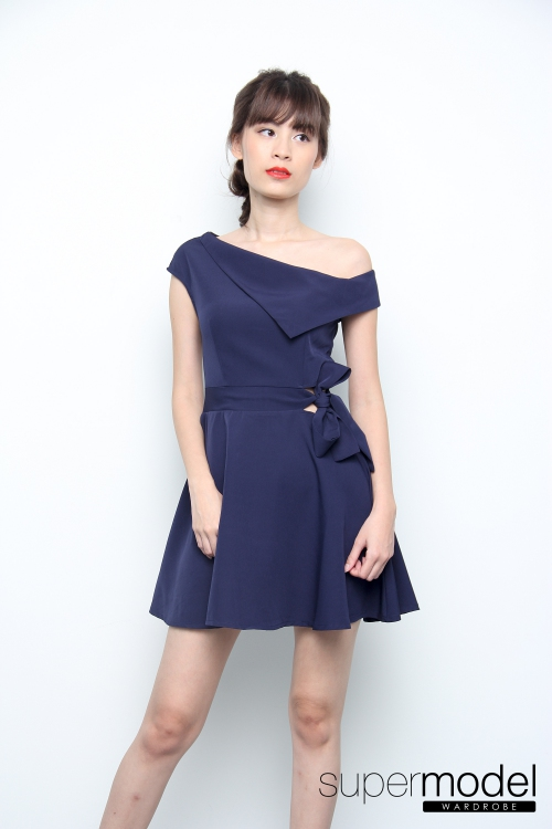 Xander Flare Dress (Navy Blue)