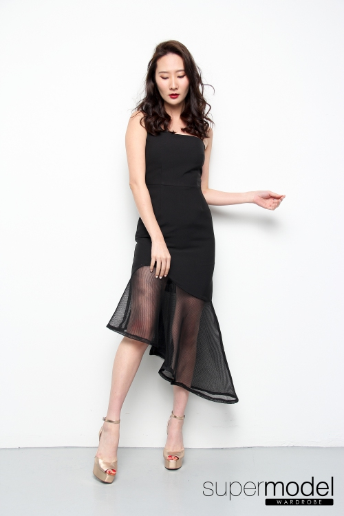 Angela Mermaid Dress (Black)