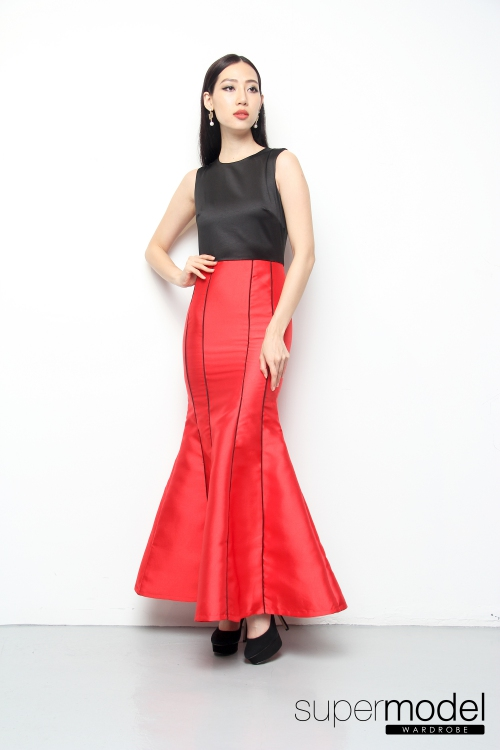 Lerfine Red Carpet Long Dress (Red)