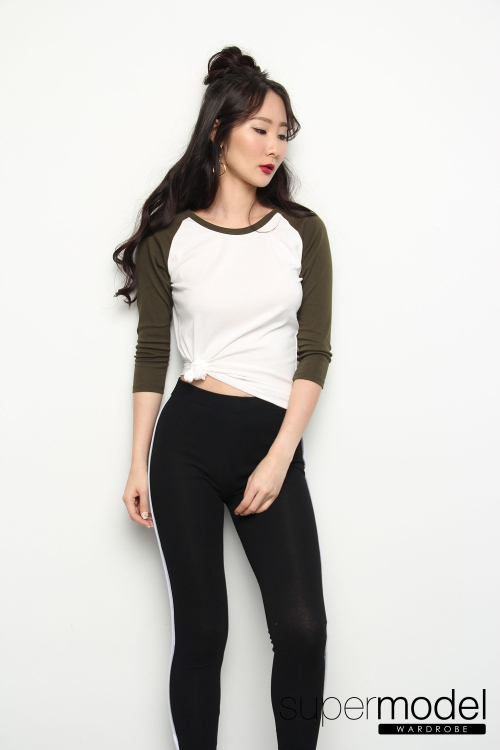 Paige Duol Color Shirt (Army Green)