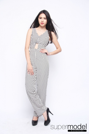 Doretta Dots Jumpsuit (White)