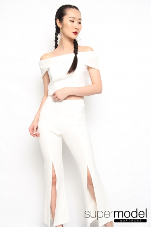 Lauren Off Shoulder Suit (White)