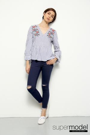 Ruph Embroidery Top (Blue)