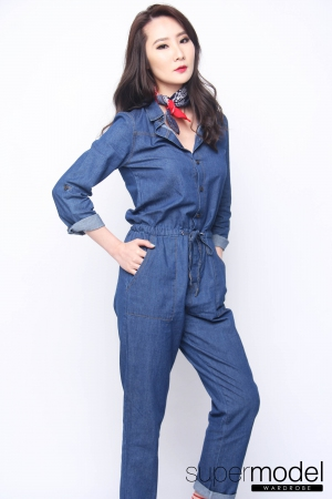 Sam Denim Jumpsuit (Medium Blue)