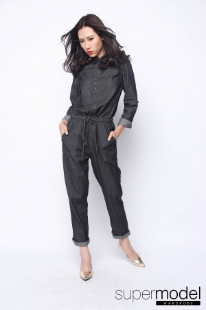 Sam Denim Jumpsuit (Black)