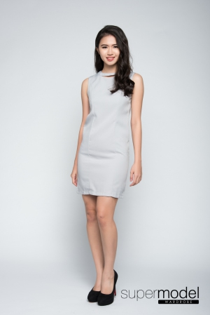 Adonis Shifted Dress (Light Grey)