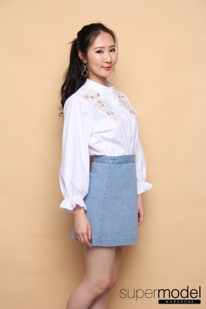 Hellen Denim Skirt (Light Blue)