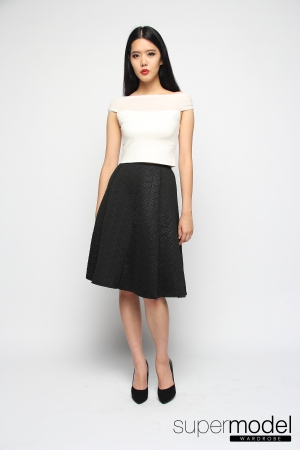 Heiley Midi Skirt (Black)