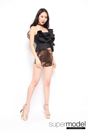 Christabel Ruffle Top (Black)