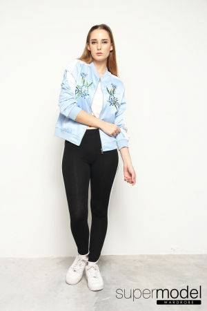 Rosrio Embroidery Jacket (Light Blue)