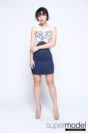 Koemi Denim Dress (Dark Blue)