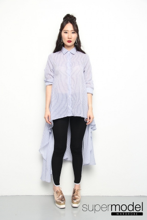 Zuliette Hi-lo Designed Top (Blue)