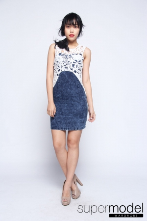 Koemi Denim Dress (Medium Blue)
