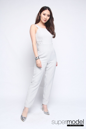 Cody Long Jumpsuit (Light Grey)