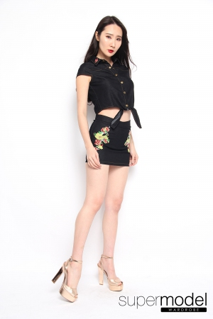 Jina Denim Set (Black)