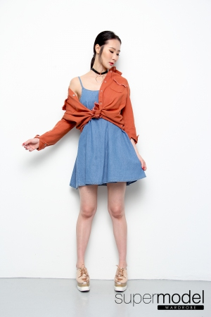 Ency Jacket/Top (Orange)
