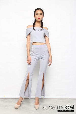 Lauren Off Shoulder Suit (Grey)