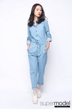 Sam Denim Jumpsuit (Light Blue)