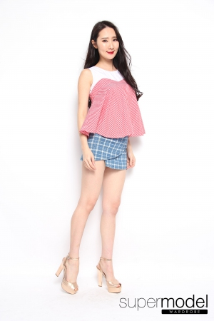 Ginger Checkered Top (Red