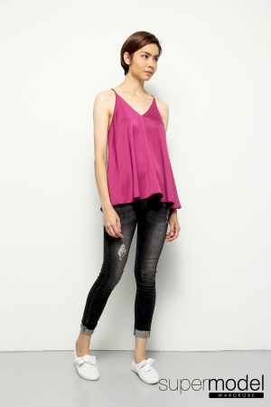 Pam Spaghetti Top (Purple Pink)