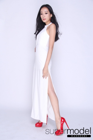 Thresh Halter Long Dress (White)