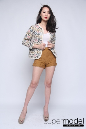 Levina Lace Short (Brown)