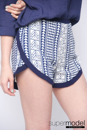 Pathy Summer Pant (Tribal-Blue)