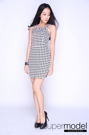 Dorreen Halter Dress (Chindori Print)