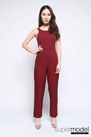 Cody Long Jumpsuit (Maroon)