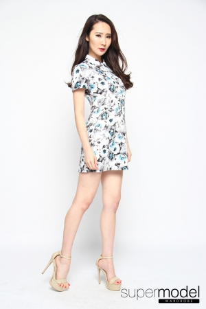 Aiko Collared Dress (Light Blue)