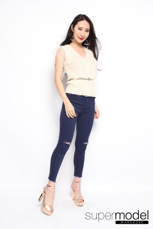 Evie Angelic Top (Beige)