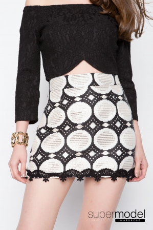 Raqula Shifted Skirt (Black)
