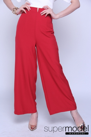 Celline Wide Leg Trouser (Red)