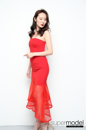 Angela Mermaid Dress (Red)