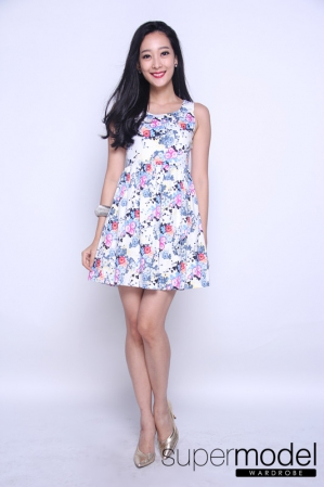 Floral Printed Dress (Grey)