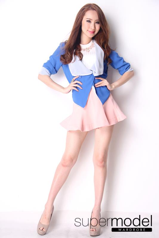 Chiffon Duo-Color Outer (Blue)